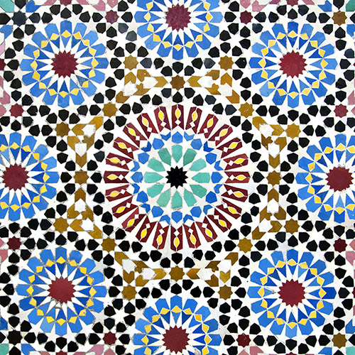 Revetement sol marocain zellige carreaux mosaique rose for Carrelage mosaique rose
