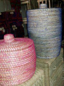corbeille colorée marocaine