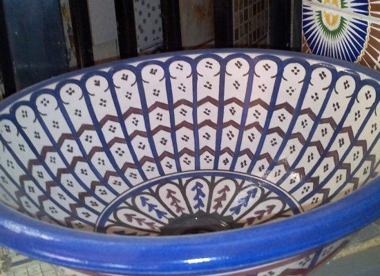 vasque émaillée marocaine artisanale