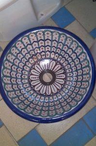 vasque marocaine émaillée