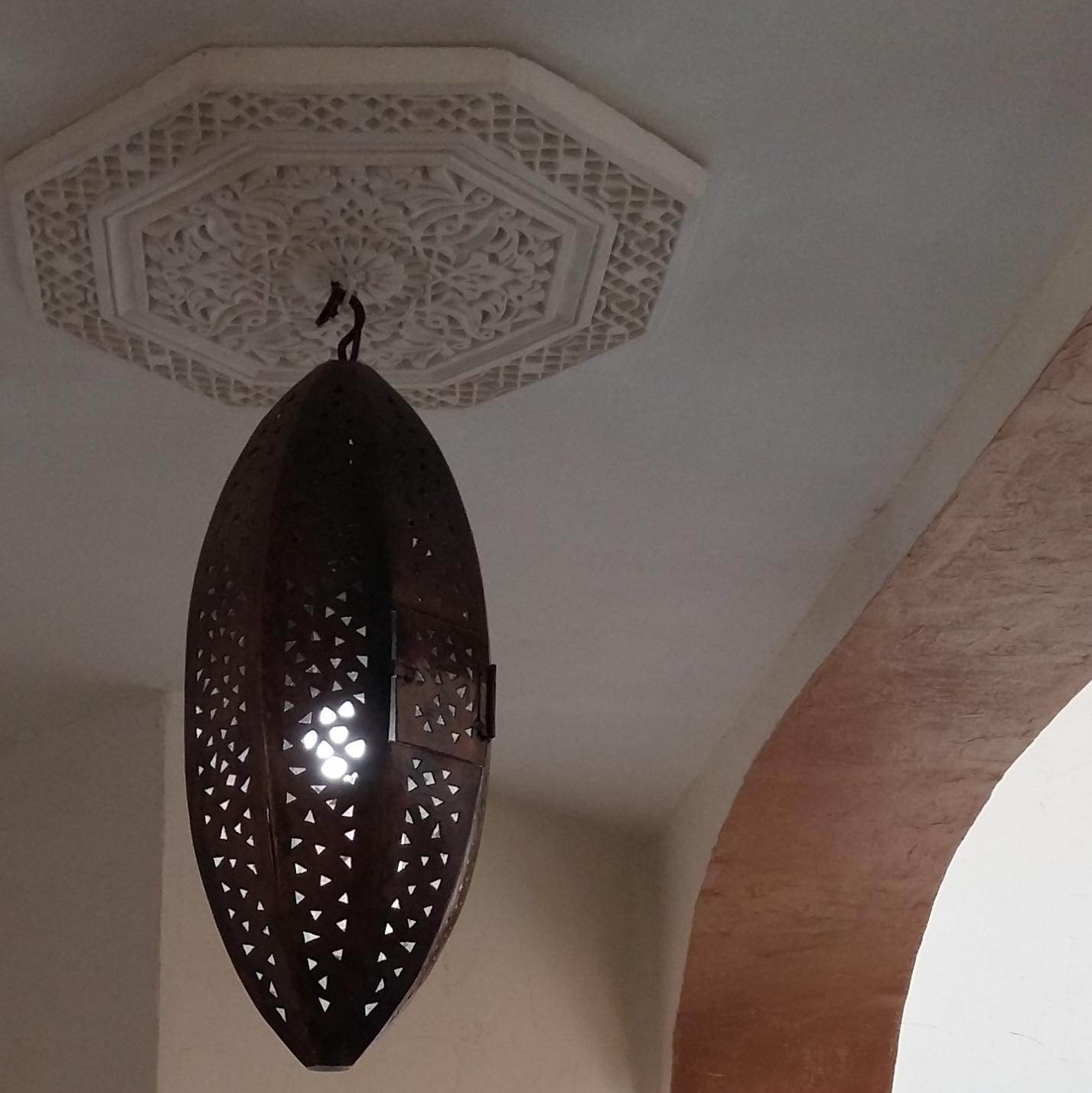 luminaire olive ajour cuivr rose des sables. Black Bedroom Furniture Sets. Home Design Ideas