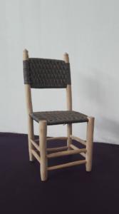 Chaise graphique support bois