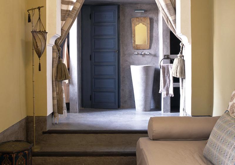lavabo entrée typiquement marocain