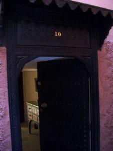 porte d'entrée de riad au maroc