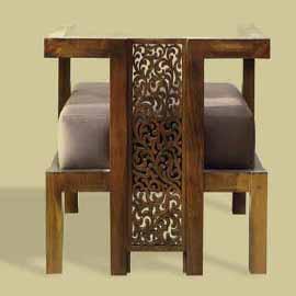 fauteuil ciselé marocain