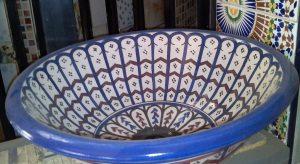 vasque émaillée réalisée artisanalement