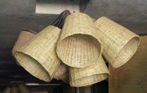 Suspension bambou marocain tissé