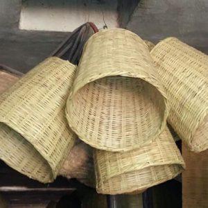 Suspension en bambou naturel marocaine