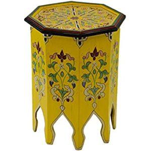 gueridon marocain jaune