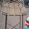chaise bar squelette vue face