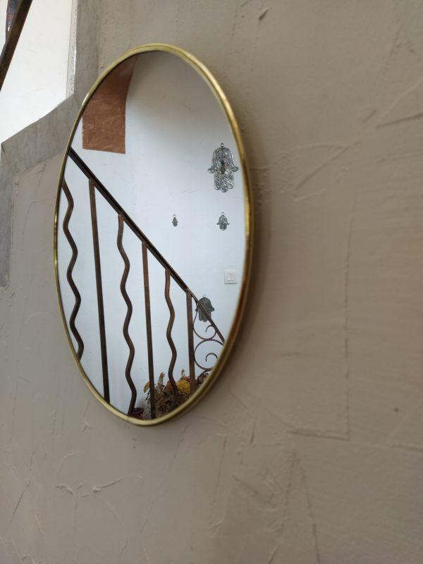 miroir cuivre rond