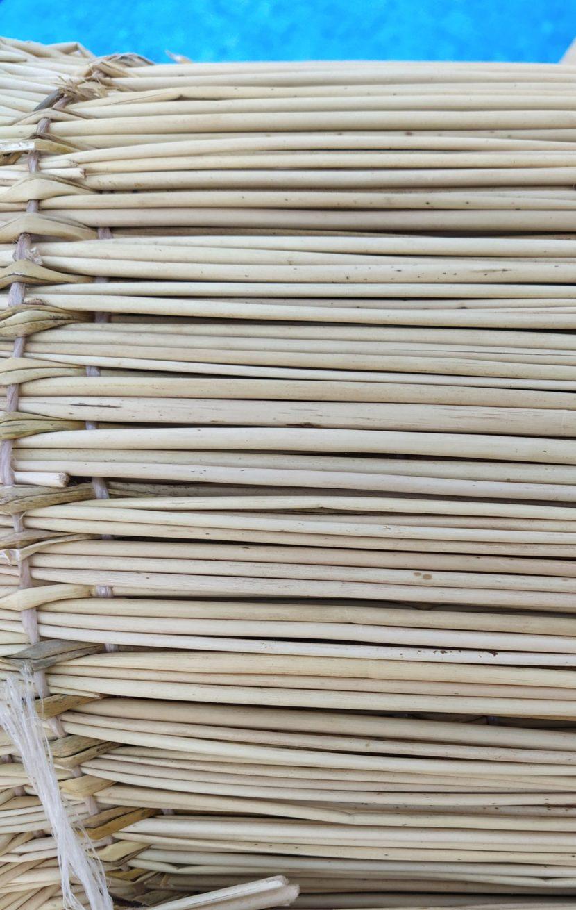 Tapis fibres naturelles tissées et nouées main